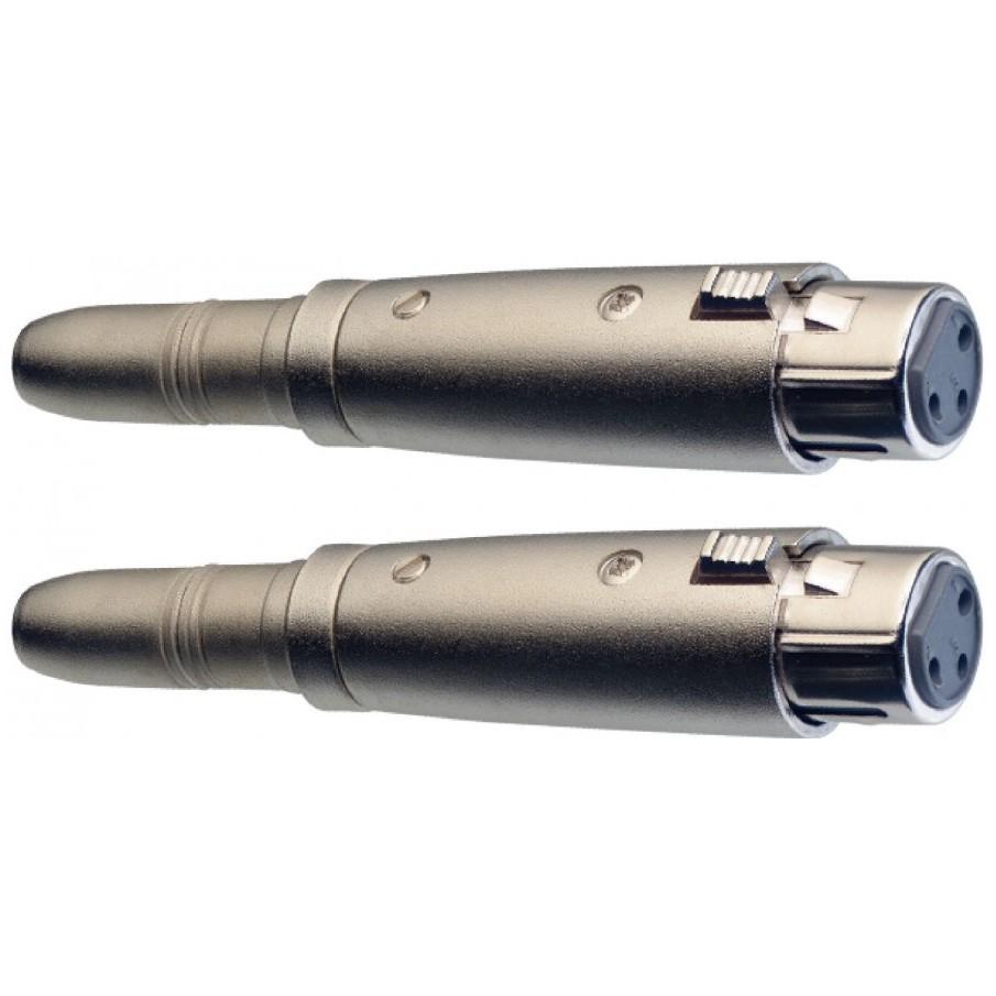 Stagg AC-XFPFH, redukce, Jack 6,3 mm zásuvka stereo - XLR zásuvka