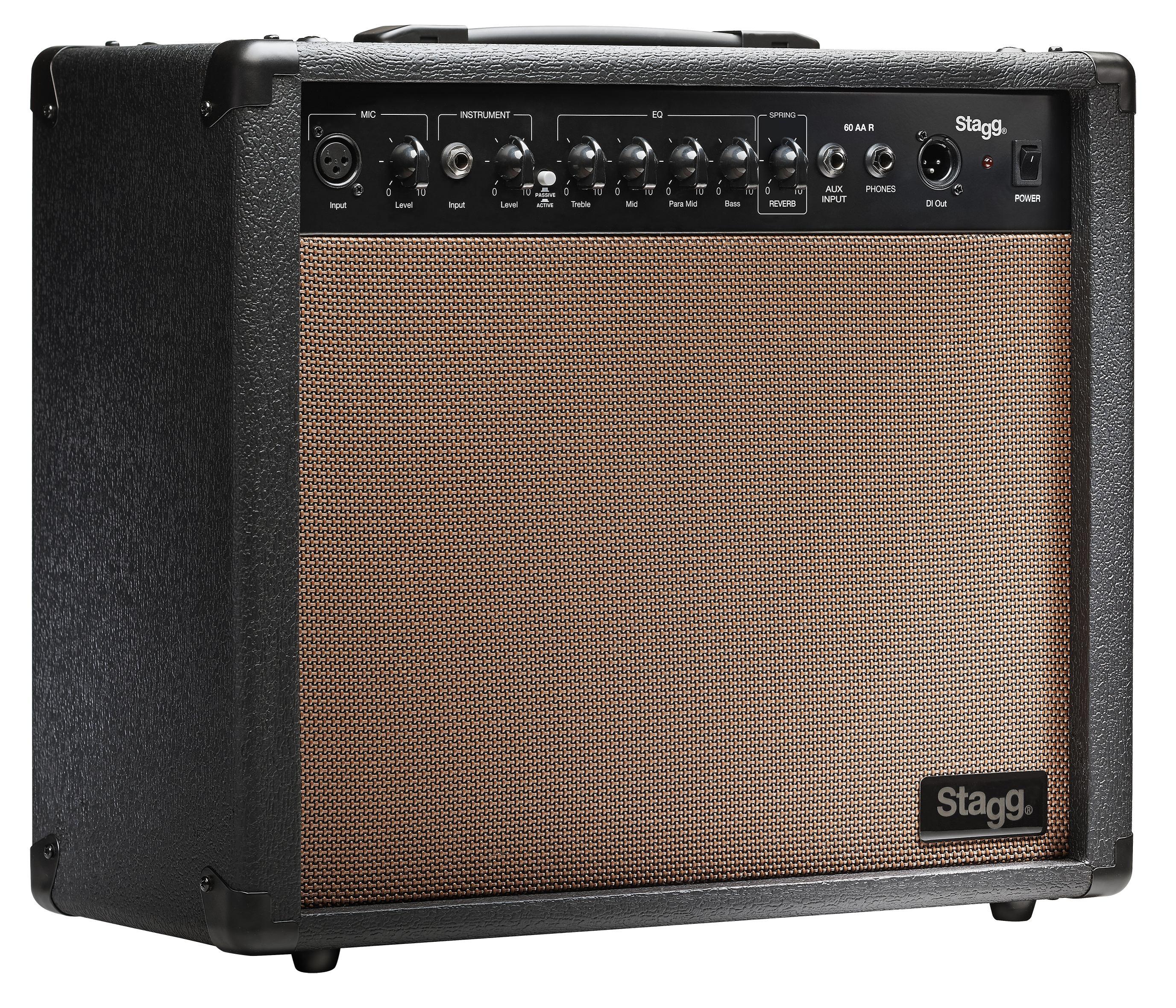Stagg 60 AA R, kombo pro el. akustickou kytaru, 60W