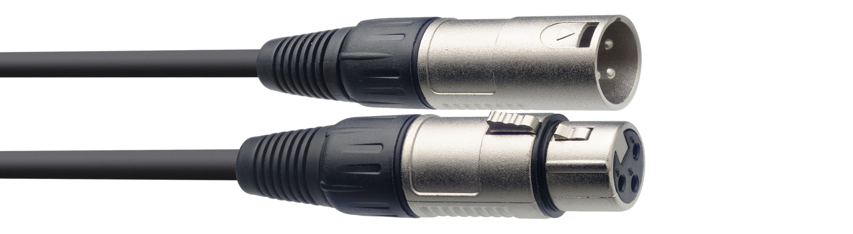 Stagg SMC1, kabel mikrofonní XLR/XLR, 1m