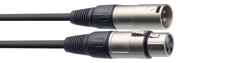 Stagg SMC3, kabel mikrofonní XLR/XLR, 3m