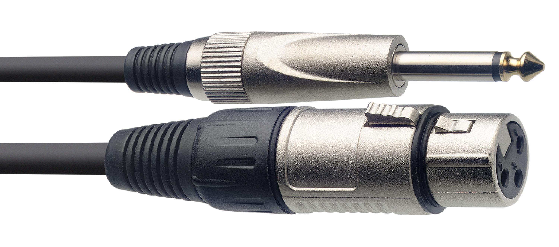 Stagg SMC1XP, kabel mikrofonní XLR/Jack, 1m