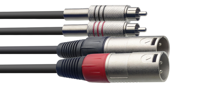 Stagg STC060CMXM, kabel 2x XLR/2x RCA, 60 cm