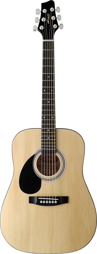 Stagg SW201 3/4 LH N, akustická kytara 3/4 levoruká, přírodní