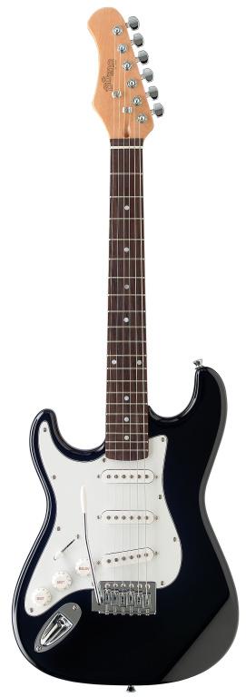 Stagg S300 3/4 LH BK, elektrická kytara, levoruká