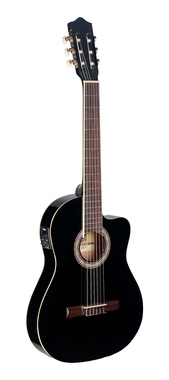 Stagg C546TCE BK, elektroakustická klasická kytara, černá
