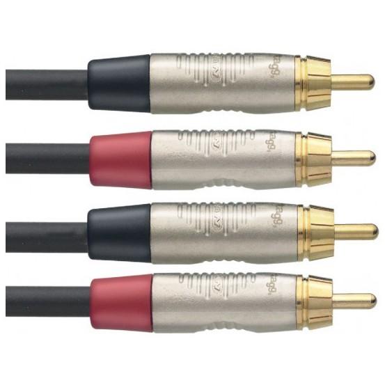 Stagg NTC6CR, kabel dvojitý RCA/RCA, 6m