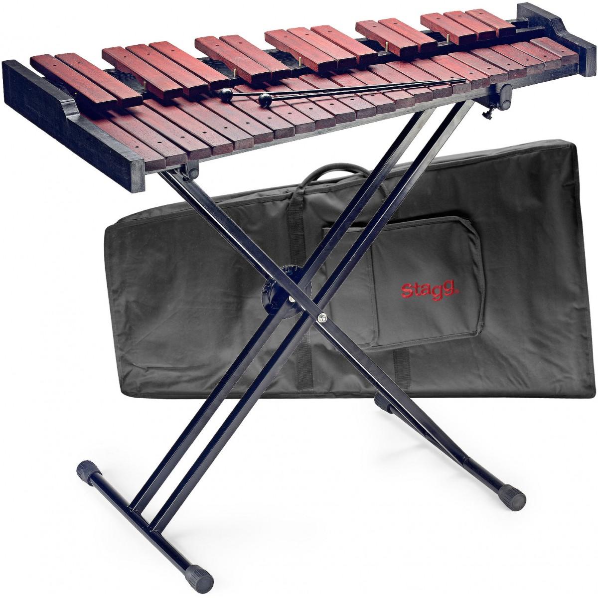 Stagg XYLO-SET 37, xylofon se stojanem a pouzdrem, 37 kamenů