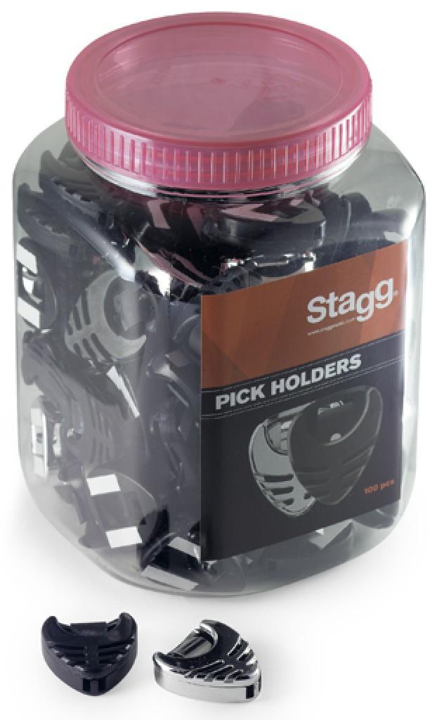 Stagg PHB-100 BK/CR zásobník na trsátka (dvě barvy), balení 100 ks