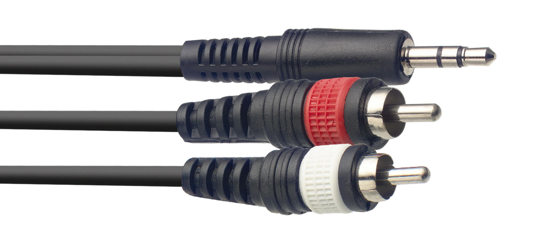 Stagg SYC6/MPS2CM E, kabel MINI JACK/2X RCA, 6m