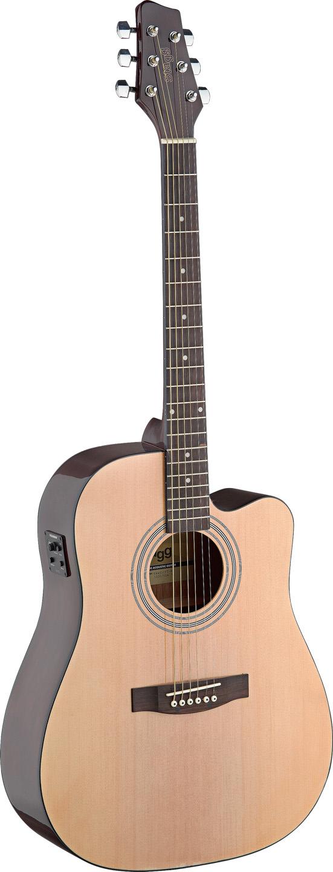 Stagg SA40DCFI-N, elektroakustická kytara, přírodní