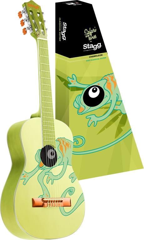 Stagg C510 CHAMELEON, klasická kytara 1/2, motiv chameleona