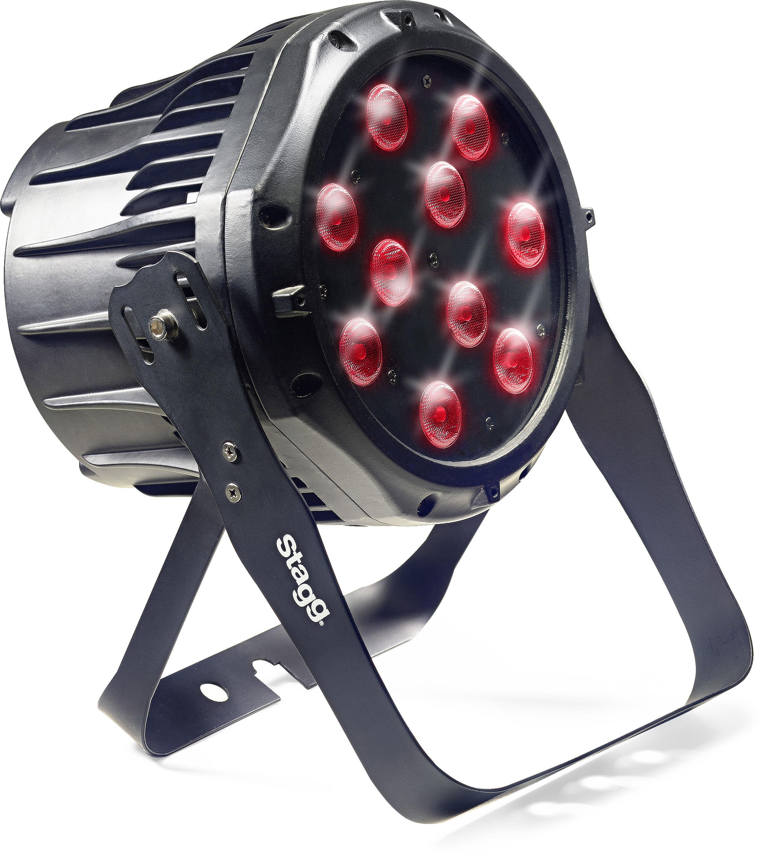 Stagg LED PAR 10x8W QCL DMX černý, LED reflektor