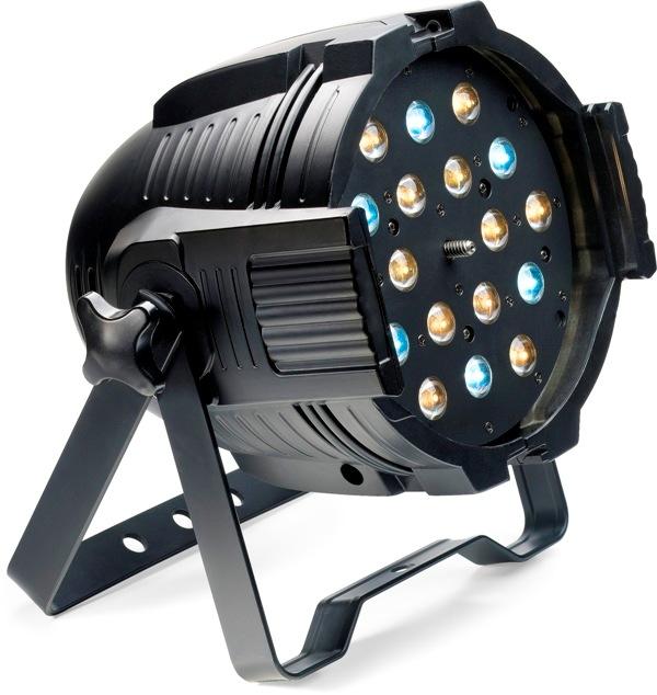 Stagg LED PAR MLZ-18x3W studená/teplá bílá DMX černý, LED reflekto