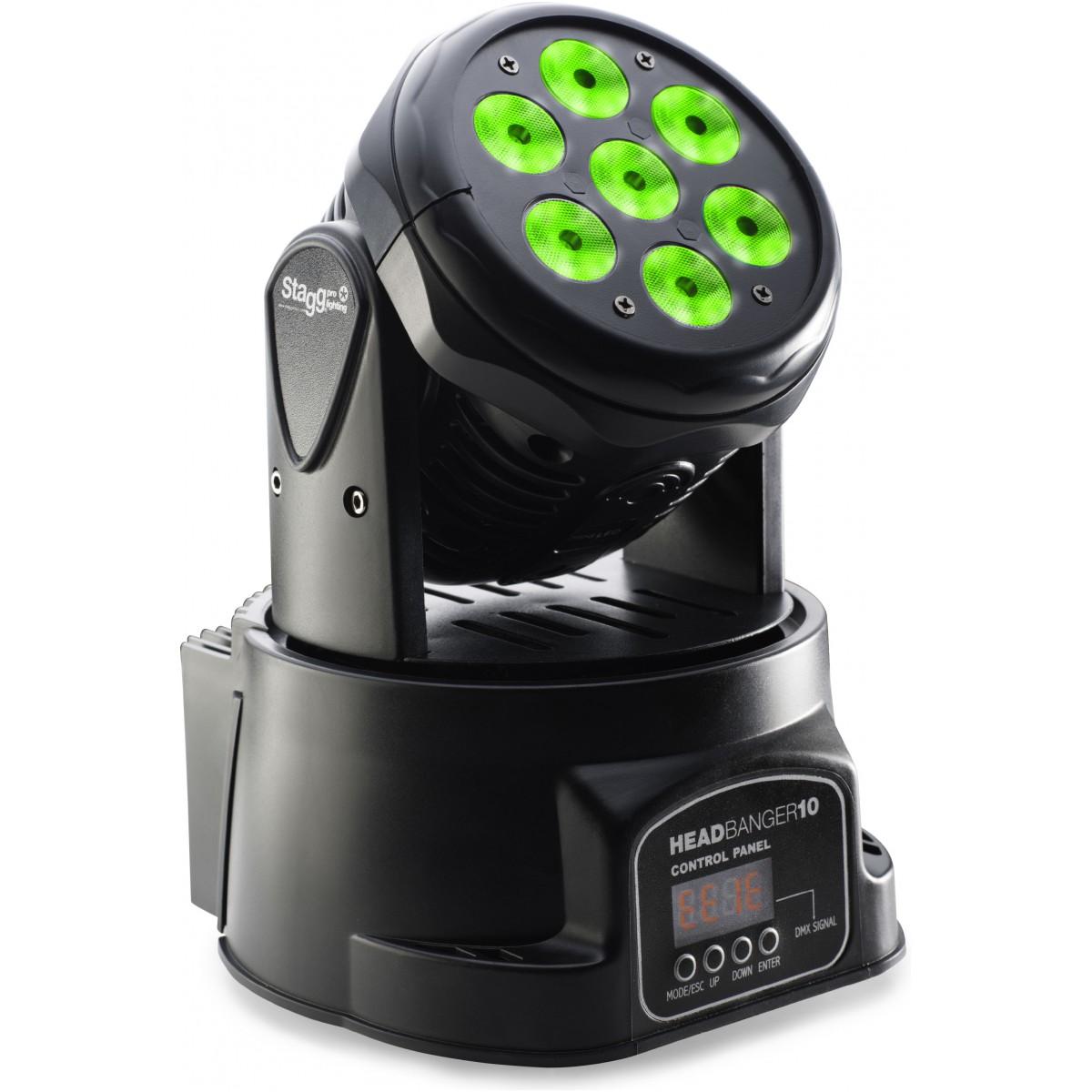 Stagg LED otočná hlavice 7x10W RGBW DMX