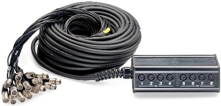 Stagg NSB-30/12X4XR, párový kabel se stageboxem