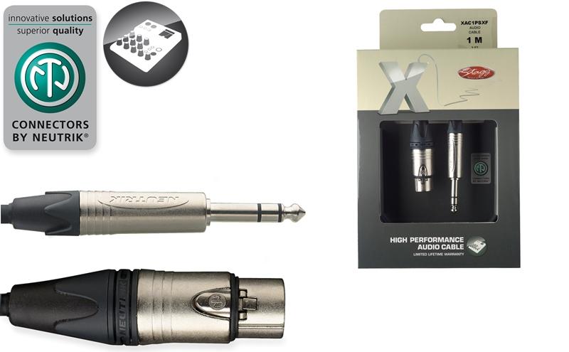 Stagg XAC1PSXF, kabel XLR/JACK, 1m