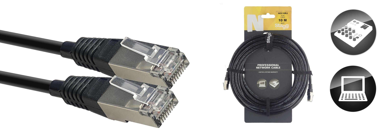 Stagg NCC10RJ, síťový kabel RJ45/RJ45, 10m
