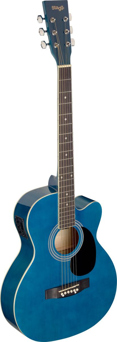 Stagg SA20ACE-BLUE, elektroakustická kytara