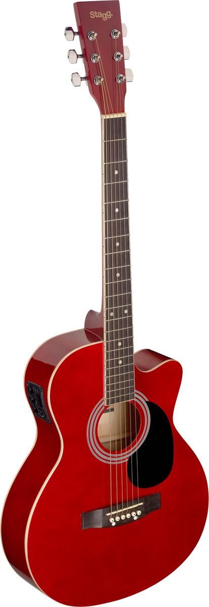 Stagg SA20ACE-RED, elektroakustická kytara