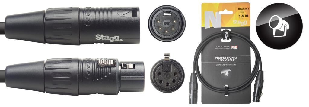 Stagg NDX1,5R-5 DMX kabel