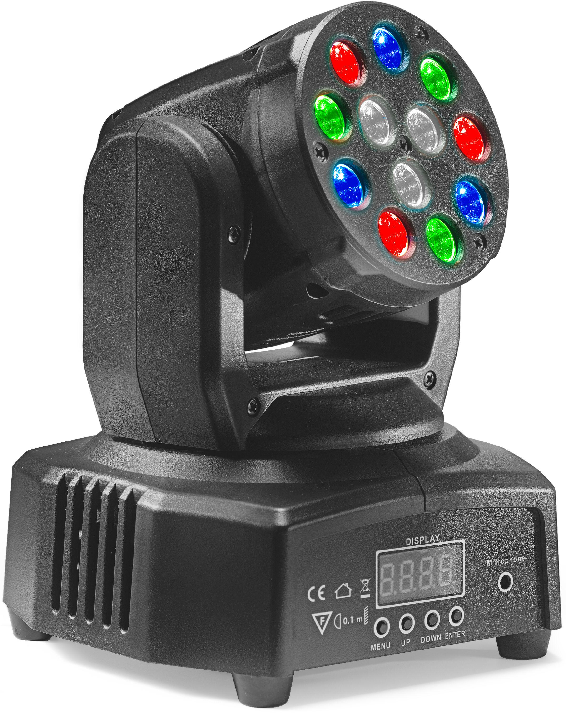 Stagg SLI MHB HB6-0, otočná hlava, 12x3W RGBW