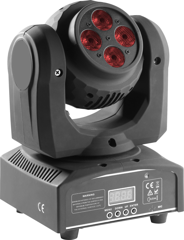 Stagg 4x10W RGBW, DMX, LED otočná hlavice Double