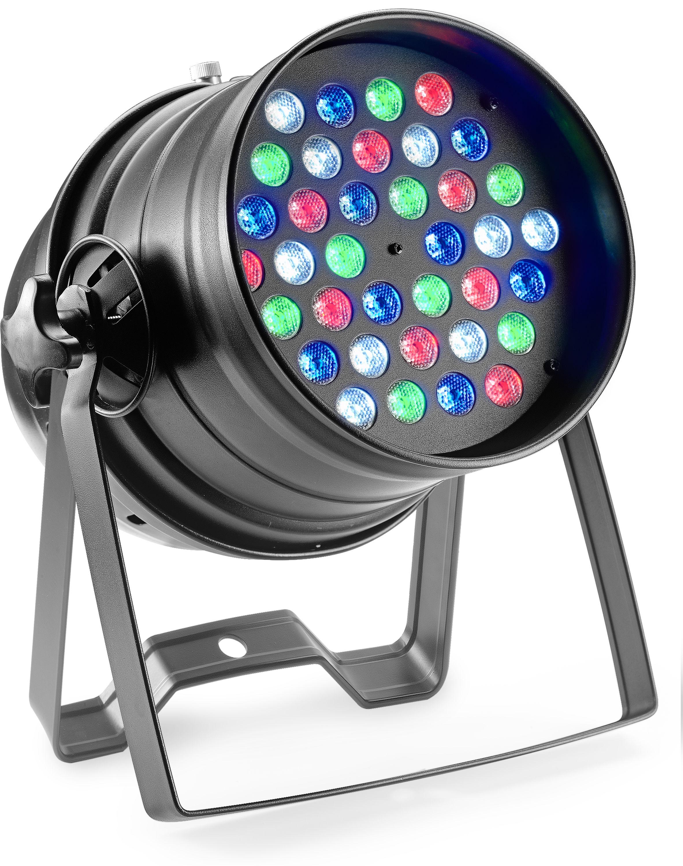 Stagg SLCL 363-M4 B-0, LED reflektor 36x3W RGBW, černý