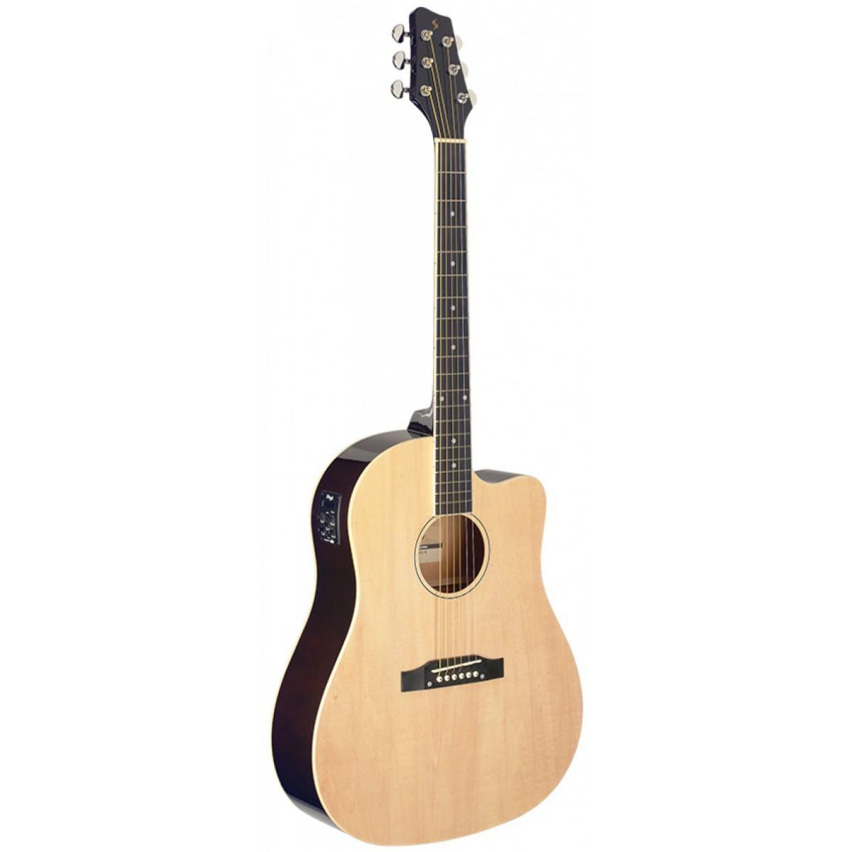 Stagg SA35 DSCE-N, elektroakustická kytara