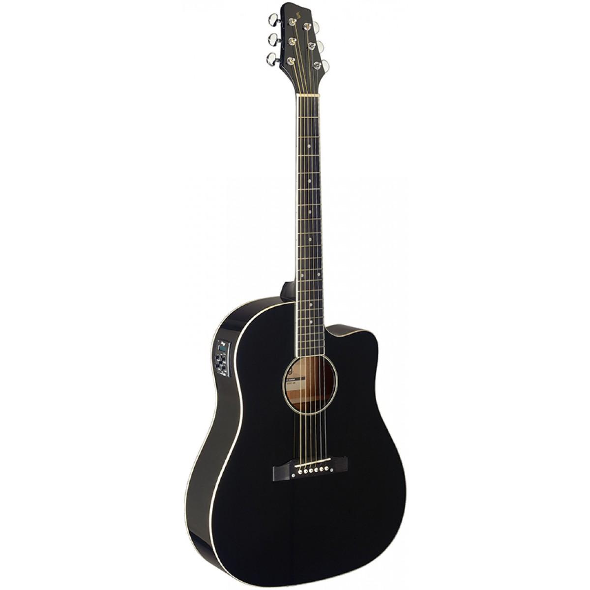 Stagg SA35 DSCE-BK, elektroakustická kytara