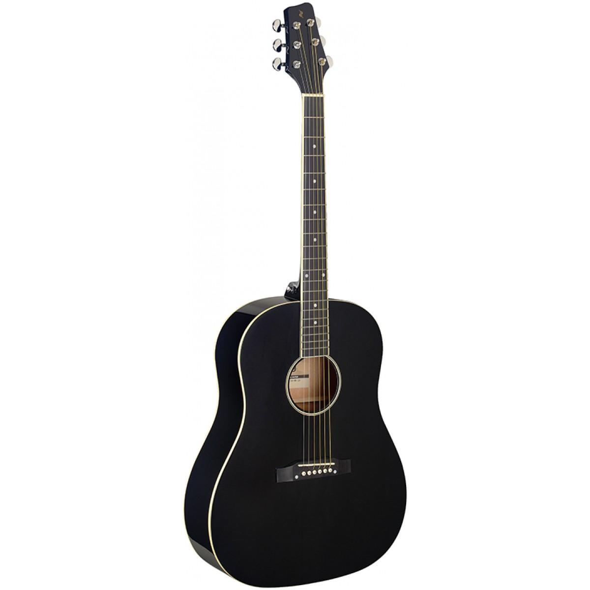 Stagg SA35 DS-BK LH, akustická kytara levoruká