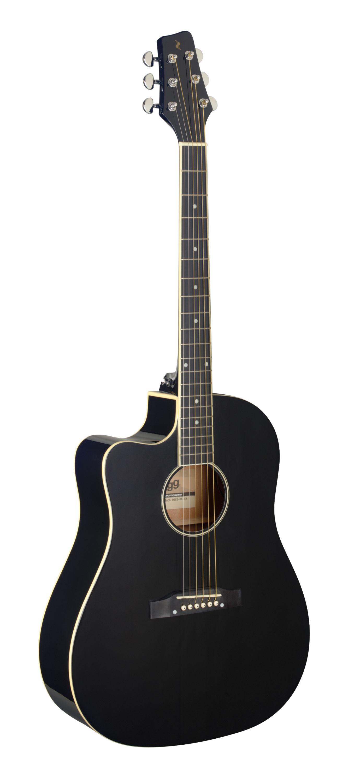 Stagg SA35 DSCE-BK LH, elektroakustická kytara levoruká
