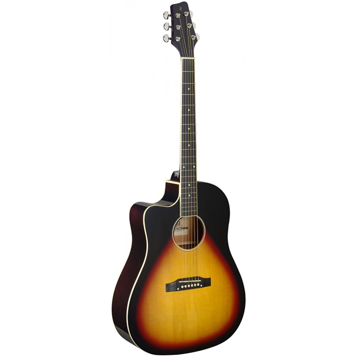 Stagg SA35 DSCE-VS LH, elektroakustická kytara levoruká