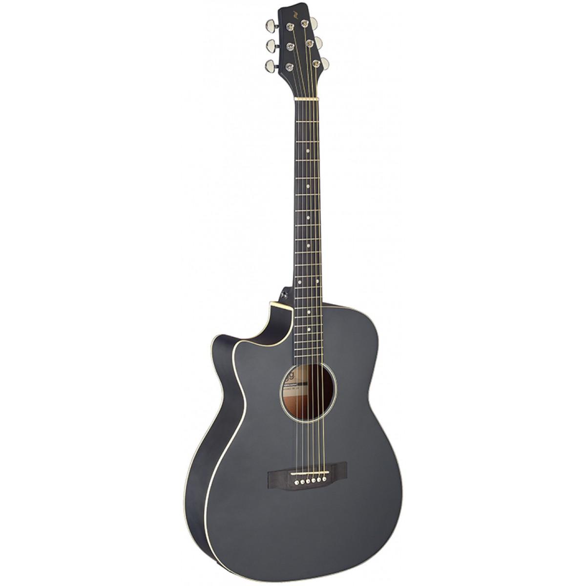 Stagg SA35 ACE-BK LH, elektroakustická kytara levoruká