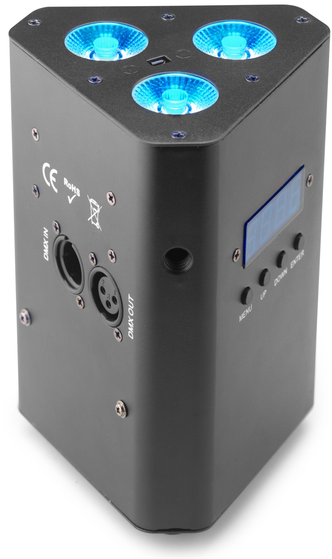Stagg SLI BAT-34-2, Uplight reflektor 3x 4W QCL LED, AKKU