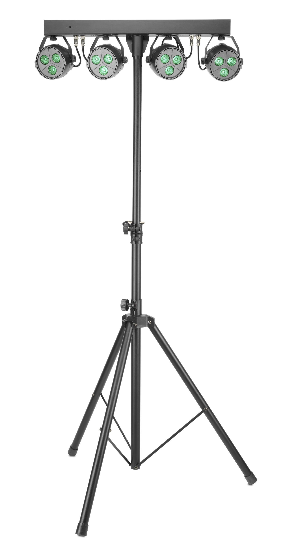 Stagg SLB 4P34-41-2, světelná rampa, 4x reflektor 3x 4W QCL LED