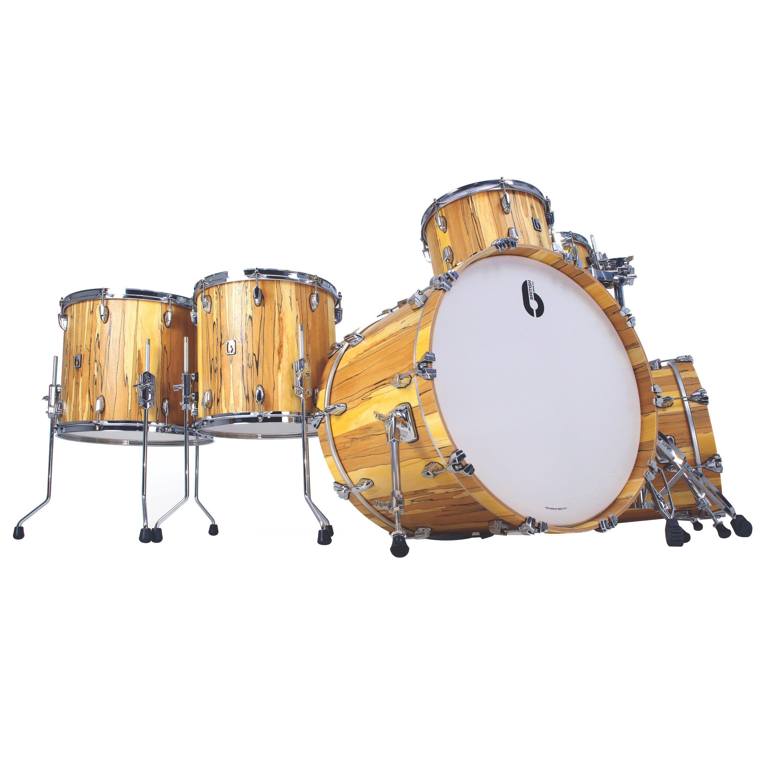 BDC Legend SE Spalted Beech Bass Drum 22x14