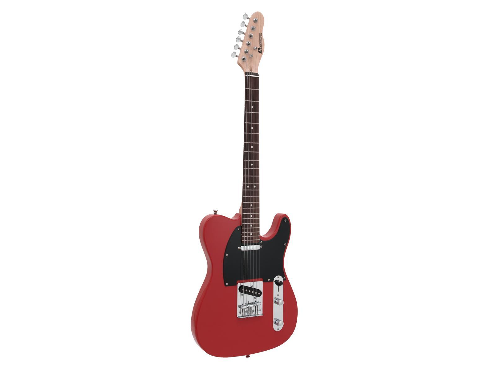Dimavery TL-401, elektrická kytara, červená