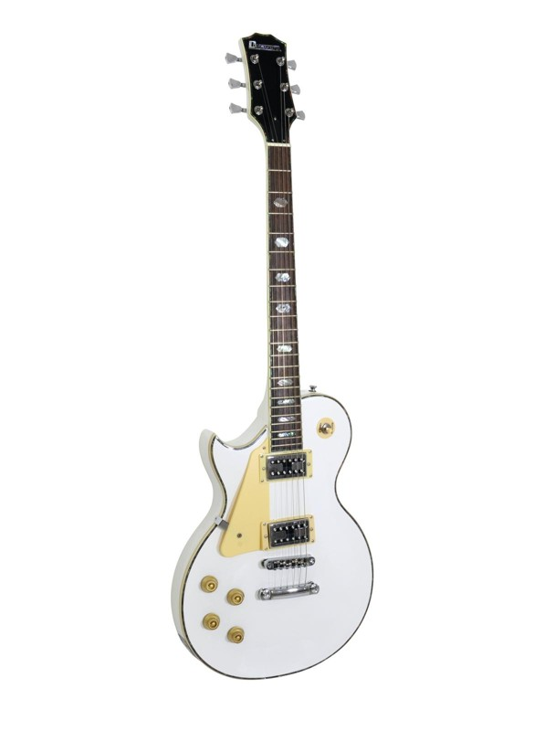 Fotografie Dimavery LP-700L elektrická kytara levoruká, bílá
