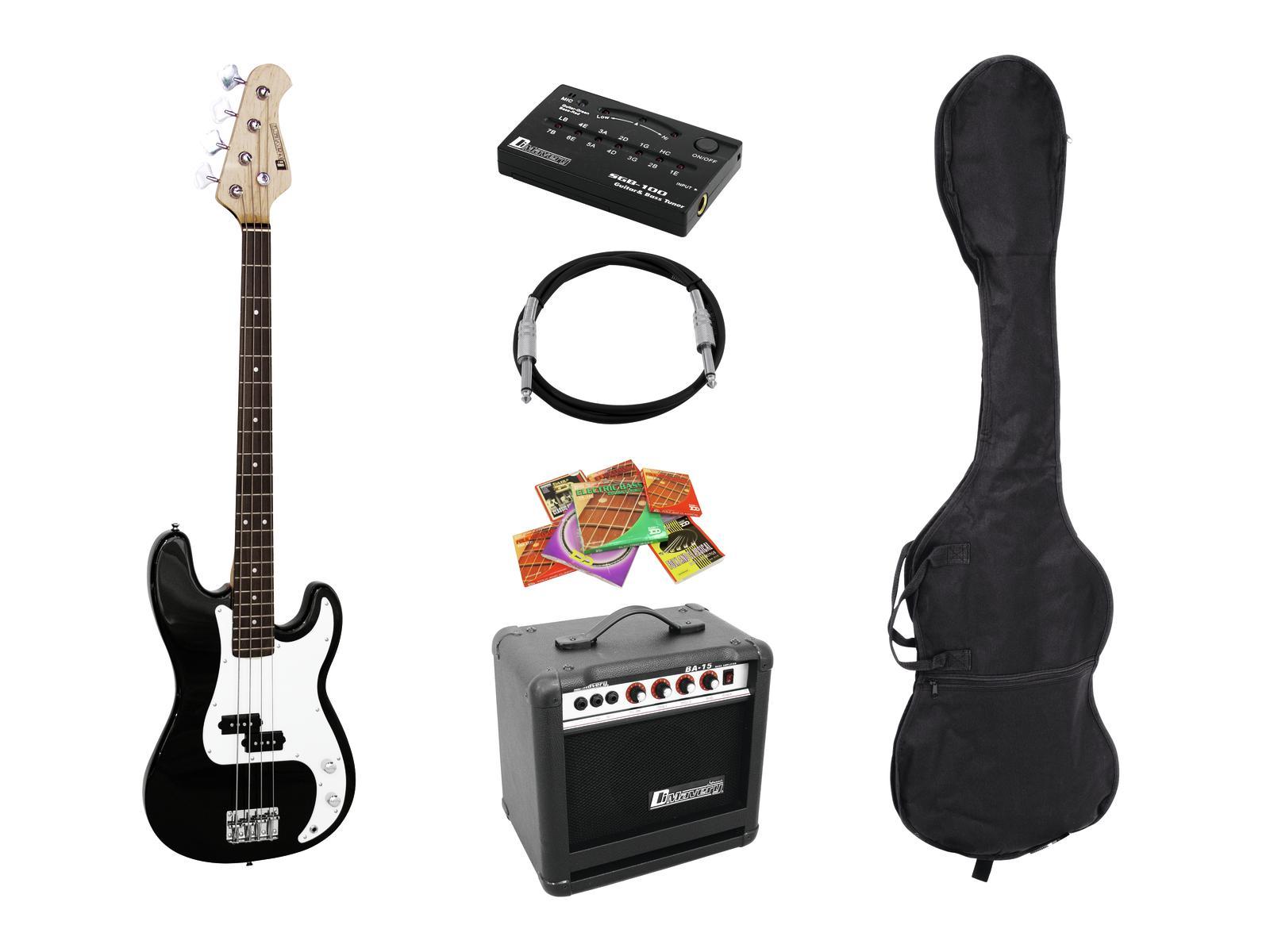 Dimavery BGS-10B, elektrická baskytara set, černá