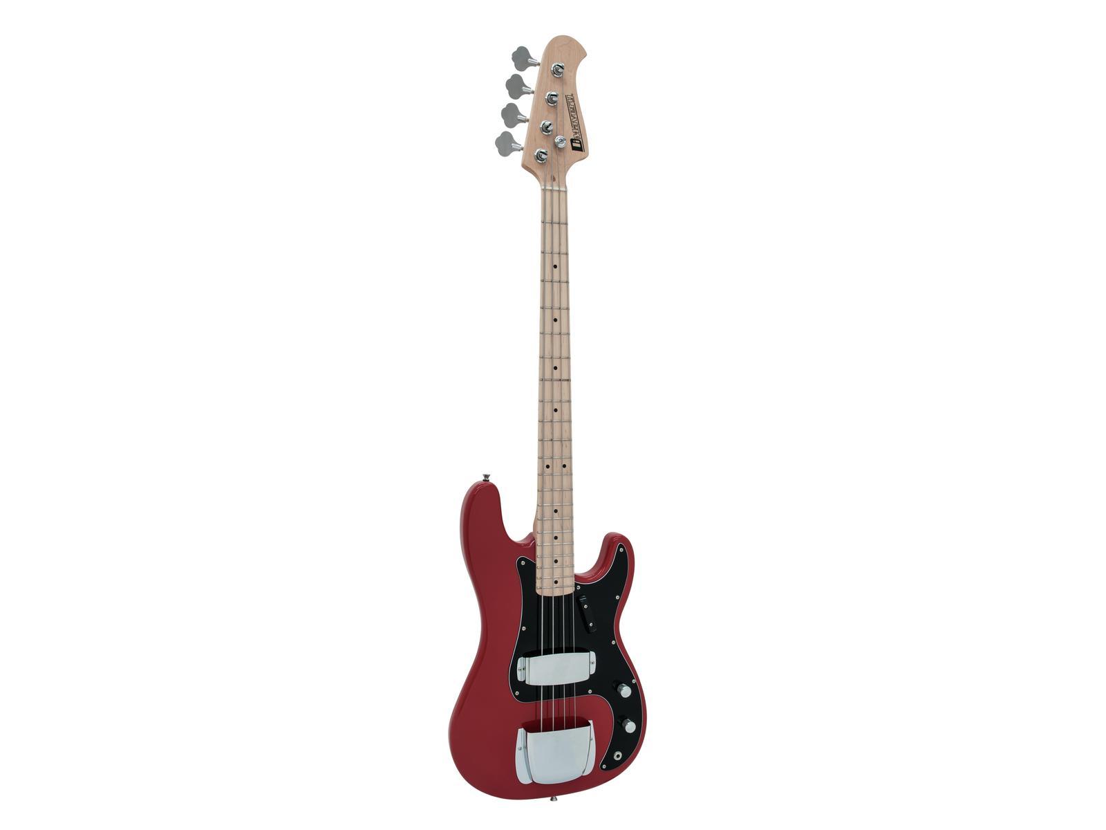 Dimavery PB-550, elektrická baskytara, červená