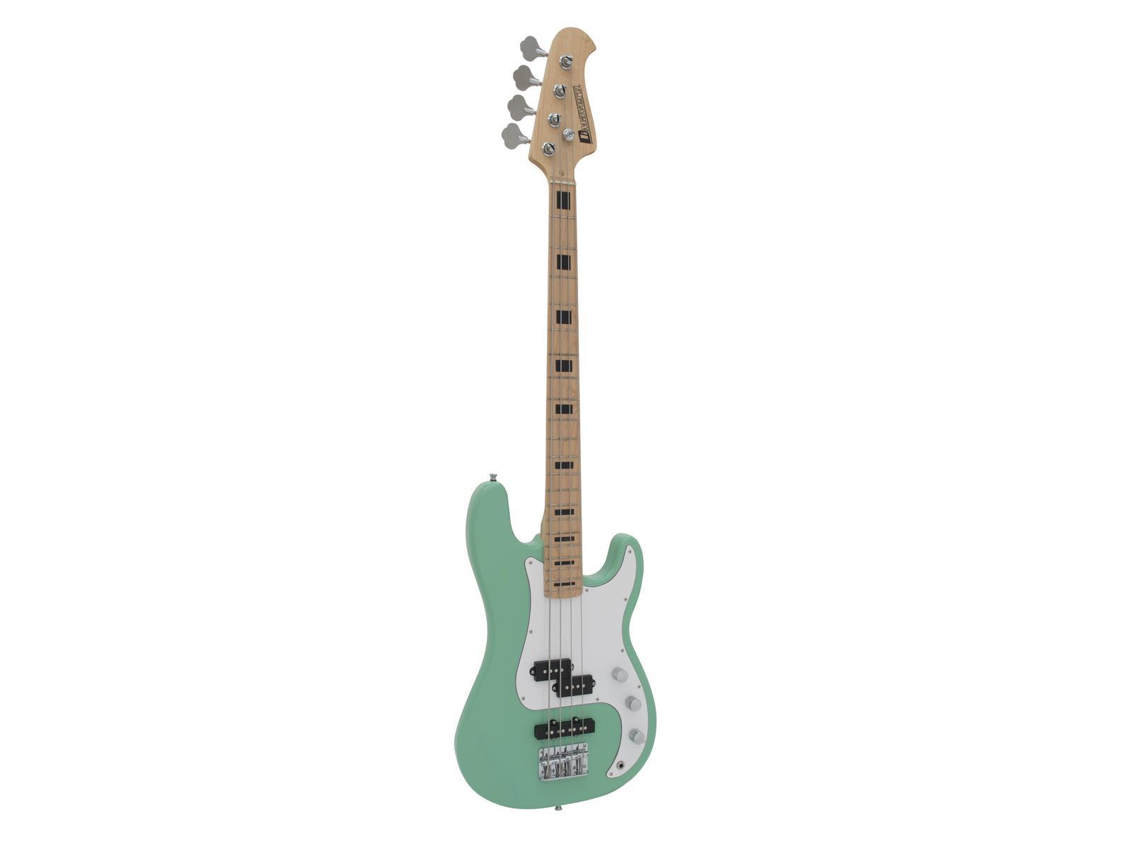 Dimavery PB-500, elektrická baskytara, světle zelená