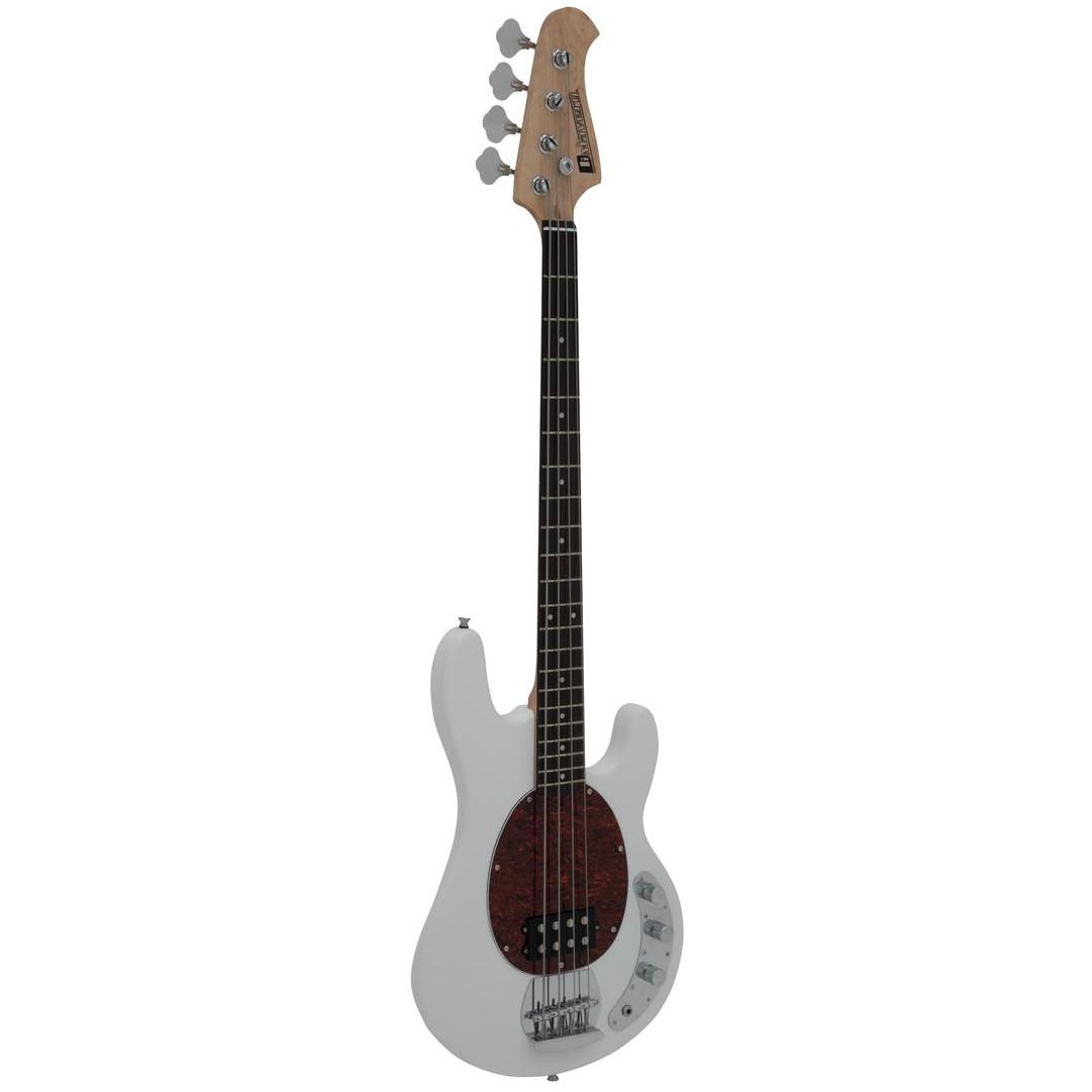 Dimavery MM-501, baskytara elektrická, bílá