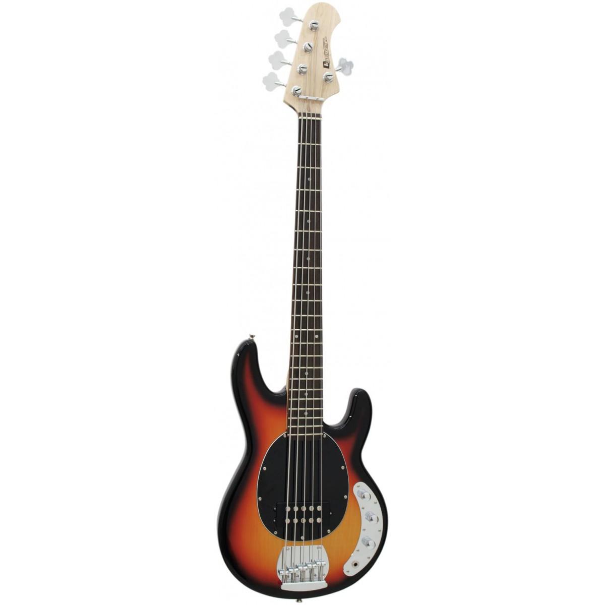 Dimavery MM-501, baskytara elektrická pětistrunná, stínovaná