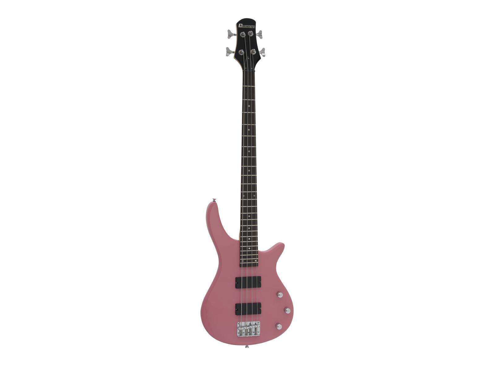 Dimavery SB-320, baskytara elektrická, růžová