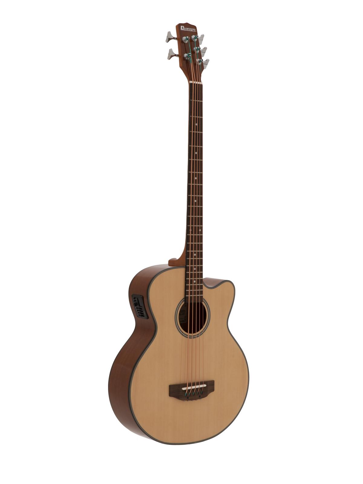 Dimavery AB-455, elektroakustická baskytara, pětistrunná, přírodní