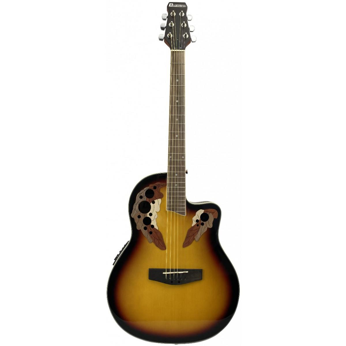 Dimavery OV-500, kytara elektroakustická typu Ovation, stínovaná
