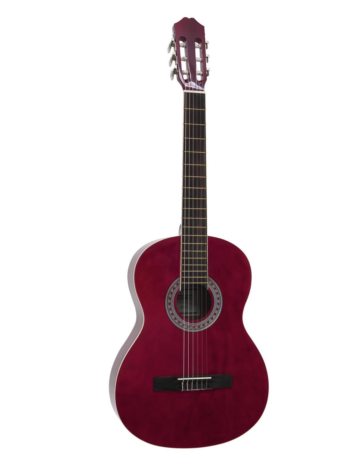 Dimavery AC-303 klasická kytara, červená