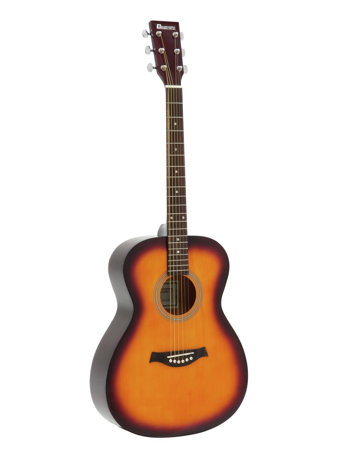 Dimavery AW-303, akustická kytara typu Folk, stínovaná