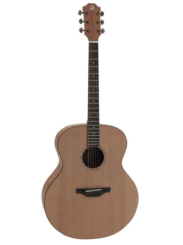 Dimavery PWS-42J, akustická kytara typu Jumbo, polomasiv
