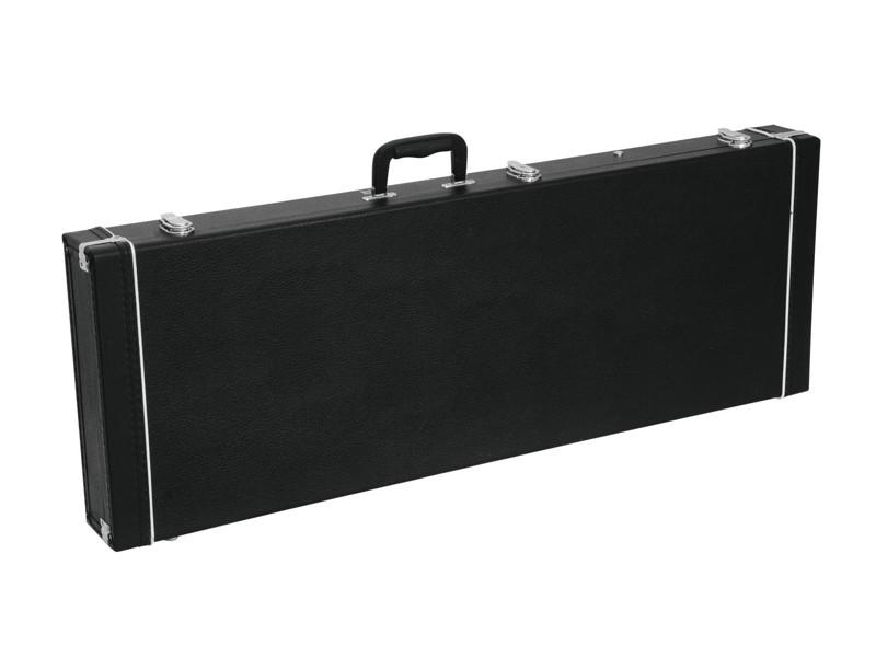 Dimavery dřevěný kufr pro elektrickou kytaru, černý